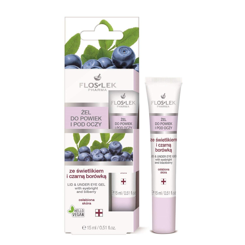 Floslek Pharma Lid & Under Eye Gel with Eyebright & Bilberry 15ml