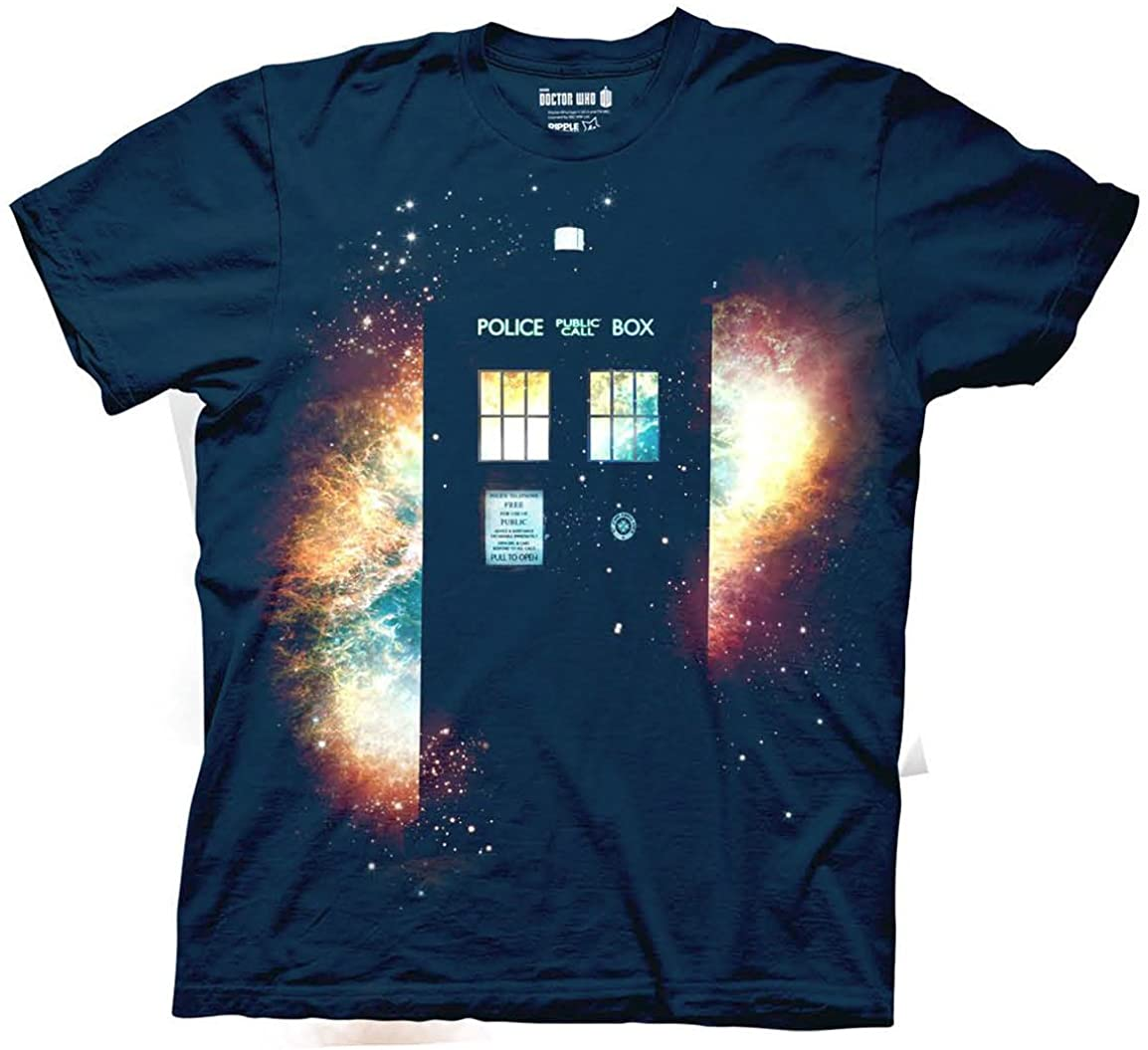 Doctor Who TARDIS Silhouette with Space Detail Shirt