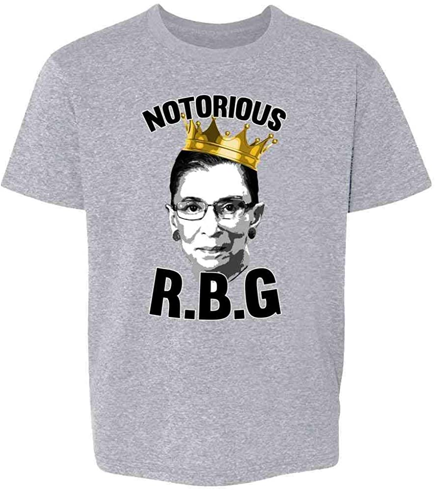 Pop Threads Notorious R.B.G. RBG Supreme Court Political Sport Grey 4T Toddler Kids Girl Boy T-Shirt