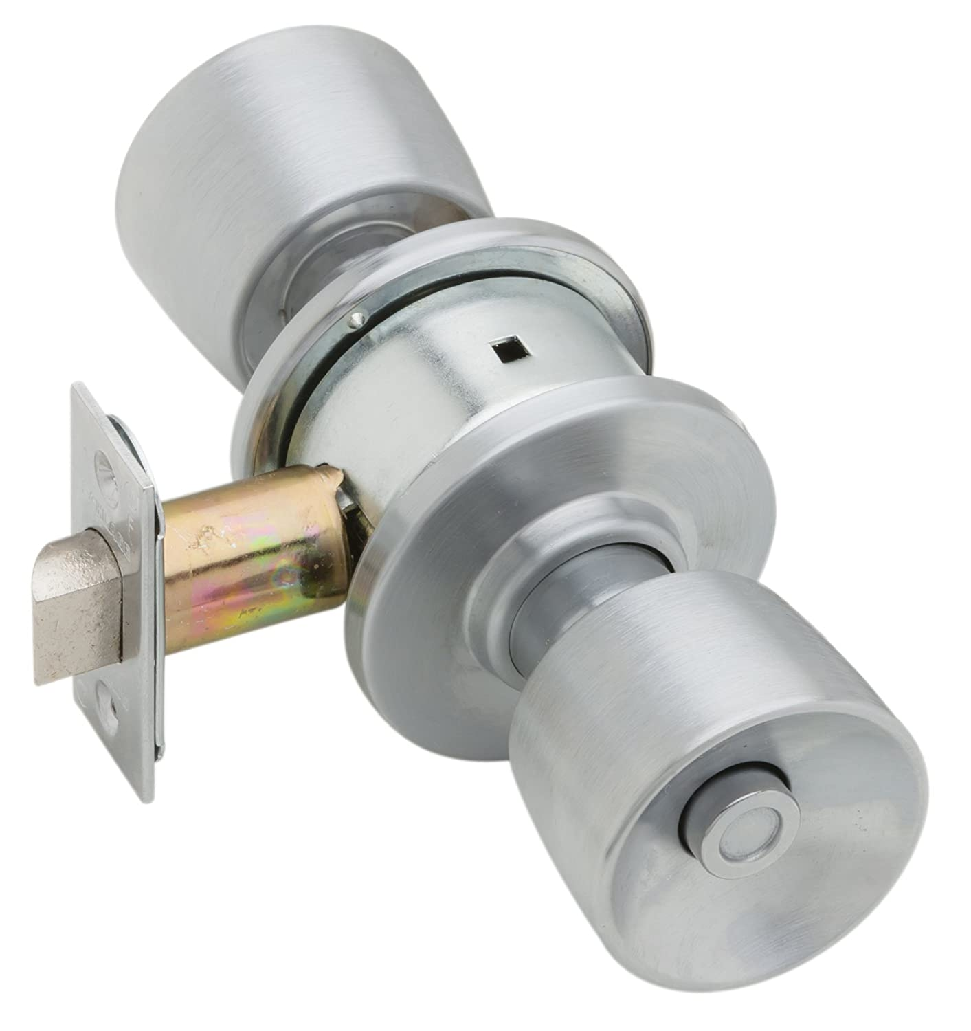 Schlage A40S TUL 626 Series A Grade 2 Cylindrical Lock, Privacy Function, Keyless, Tulip Design, Satin Chrome Finish