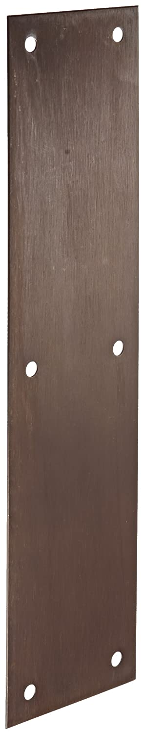 Rockwood 70A.10B Bronze Standard Push Plate, Four Beveled Edges, 12