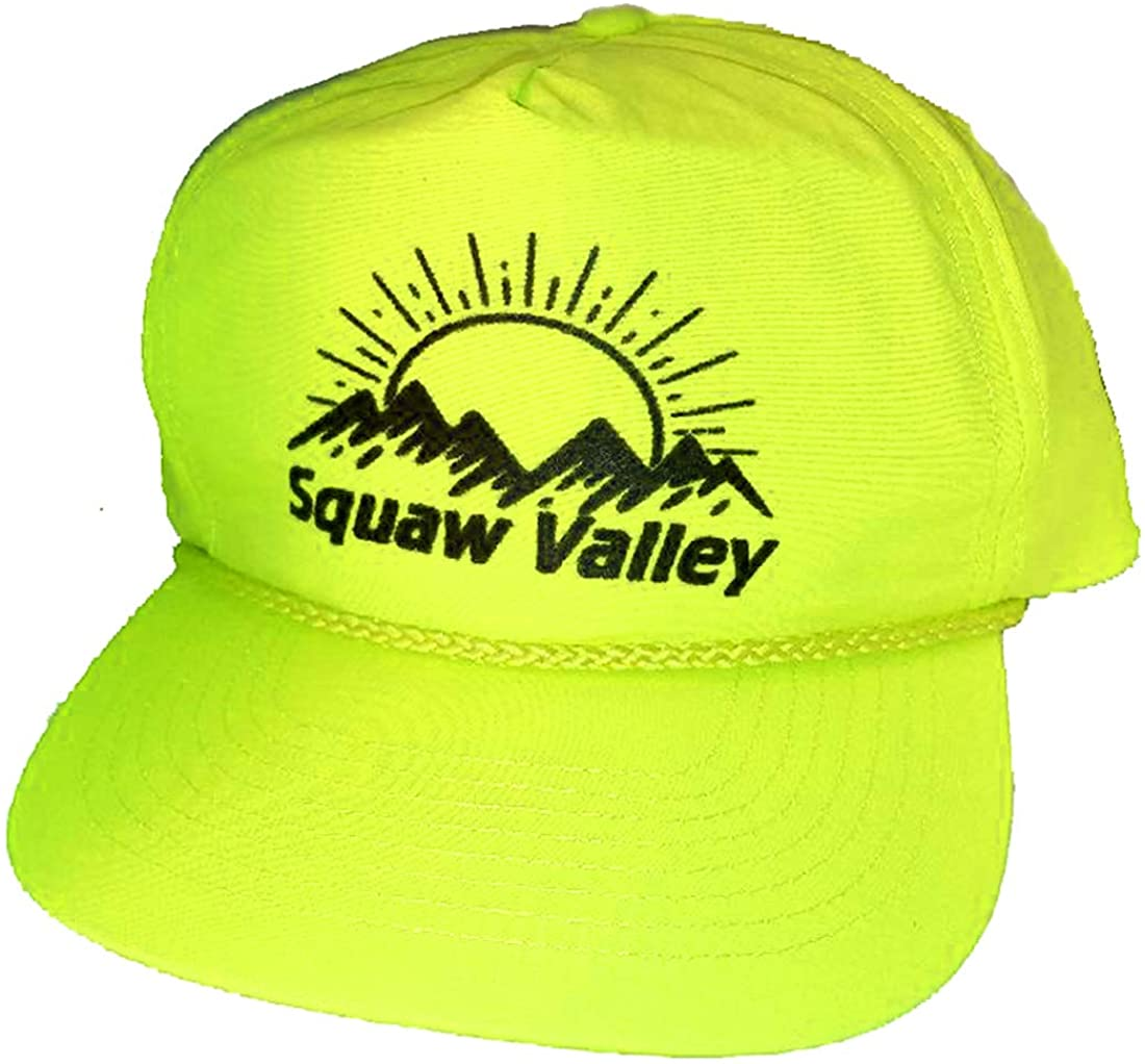 Neon Boardwalk Snapback Hat Cap Ski Snowboard Aspen Vail Squaw Mammoth