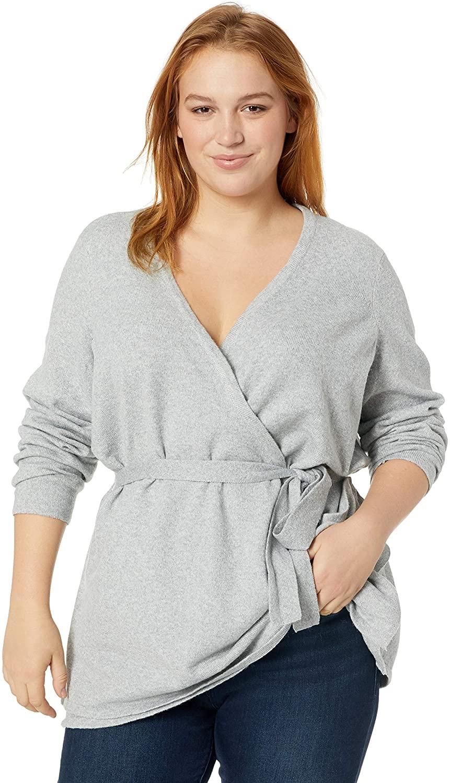 Junarose Women's Plus Size Diamond Long Sleeve Knit Cardigan