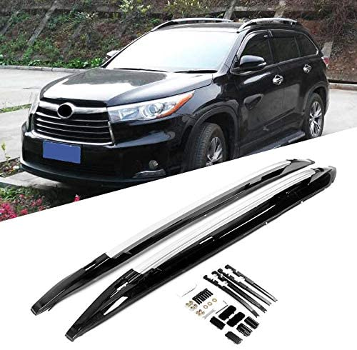 Auto Prich fits for Toyota Highlander 2014-2019 Luggage Baggage roof Rack bar Rail Black