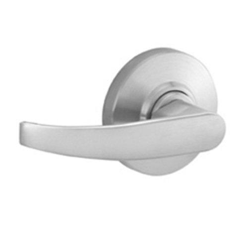 Schlage AL10S NEP 626 Series AL Grade 2 Cylindrical Lock, Passage Function, Keyless, Neptune Design, Satin Chrome Finish