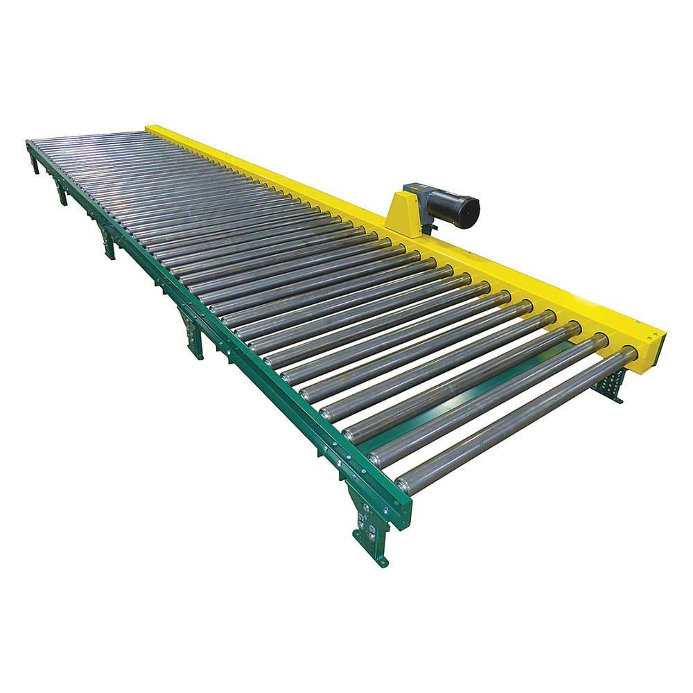 Ashland Conveyor - CDLR16F05S05 27EW CN51A3 30 - Roller Conveyor, 5 ft.L, 2 Legs Per Unit