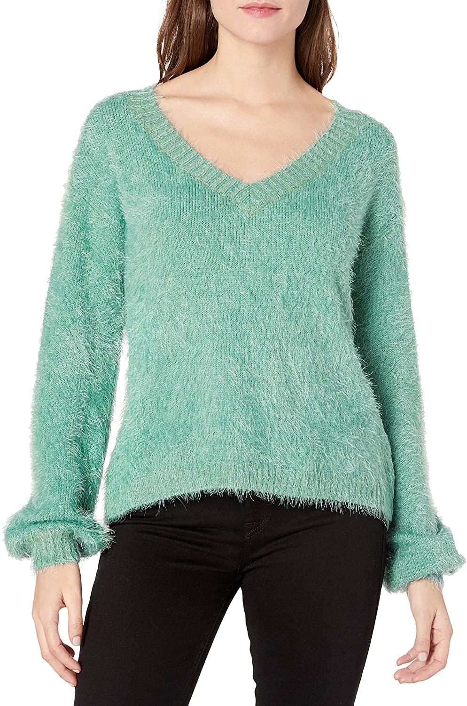 Somedays Lovin Women's Colors of Dawn Eyelash Fuzzy Sweater