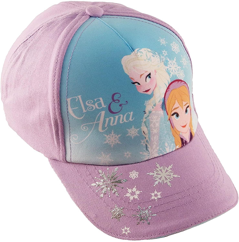 Disney Little Girls Frozen Elsa and Anna Cotton Baseball Cap, Age 2-7