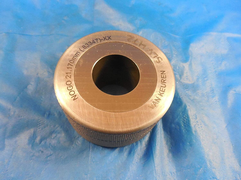 21.170 Class XX Carbide Master Plain BORE Ring GAGE 21.000 +.170 21 MM .8335