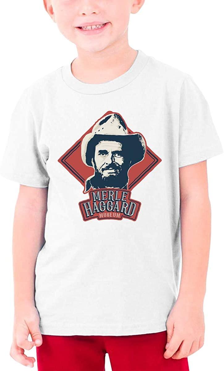 Merle Haggard Teenager T Shirt Boys & Girls Short Sleeve T Shirt Cotton Tee