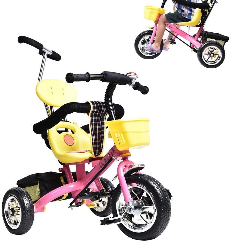 Zouminy Baby Trike Children Riding Trike with Front Storage Basket Sturdy Steel Pipe Children Child