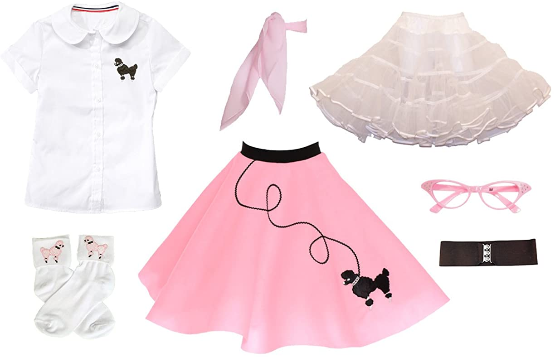 Hip Hop 50s Shop 7 Piece Child Poodle Skirt Outfit