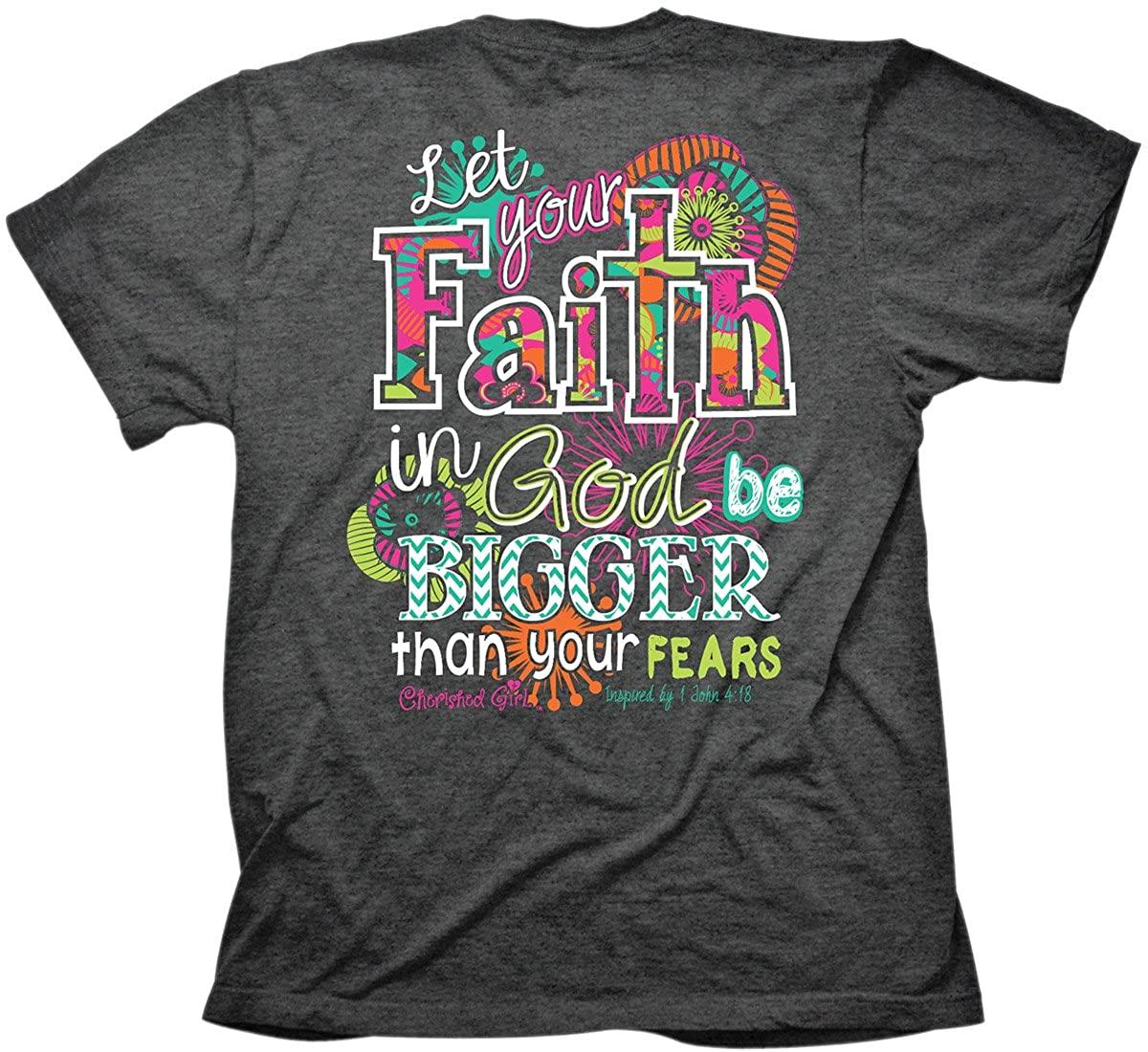 Big Faith T-Shirt for Women & Girls - Grey Christian Fashion Clothing Gifts