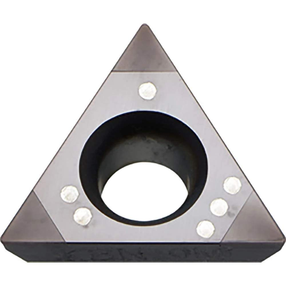 Kyocera TPGB 222T00315ME KBN60M Grade CBN, 60 Degree Triangle, Positive Rake Angle, Neutral Turning Insert for Light Interruption in Cast Iron (1 pc)