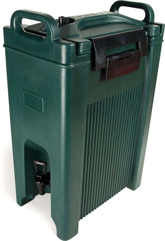 Carlisle XT500008 Cateraide Insulated Beverage Server/Dispenser, 5 Gallon, Forest Green