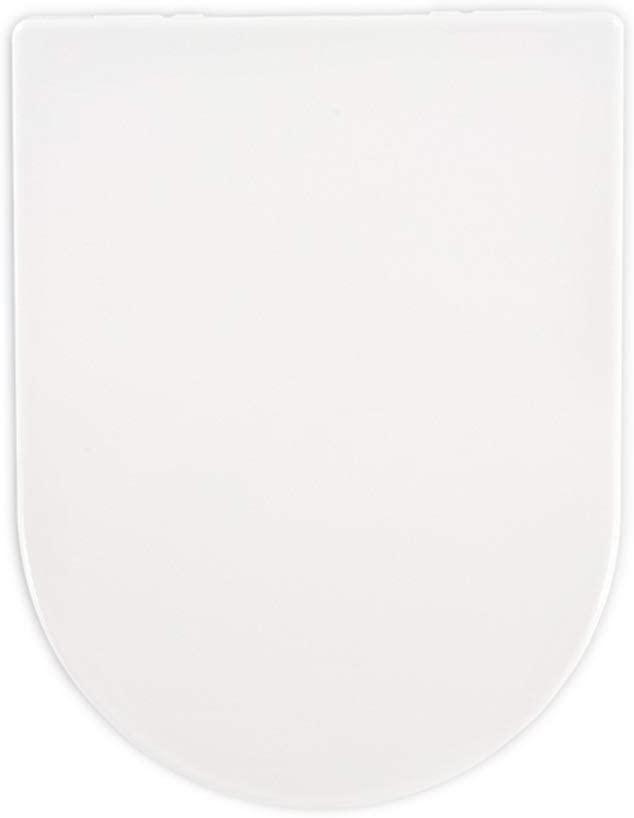 GDSMTG Comfortable Quiet White Thicken Toilet Seat Urea-Formaldehyde Resin Toilet Lid Toilet Bowl Easy to Clean