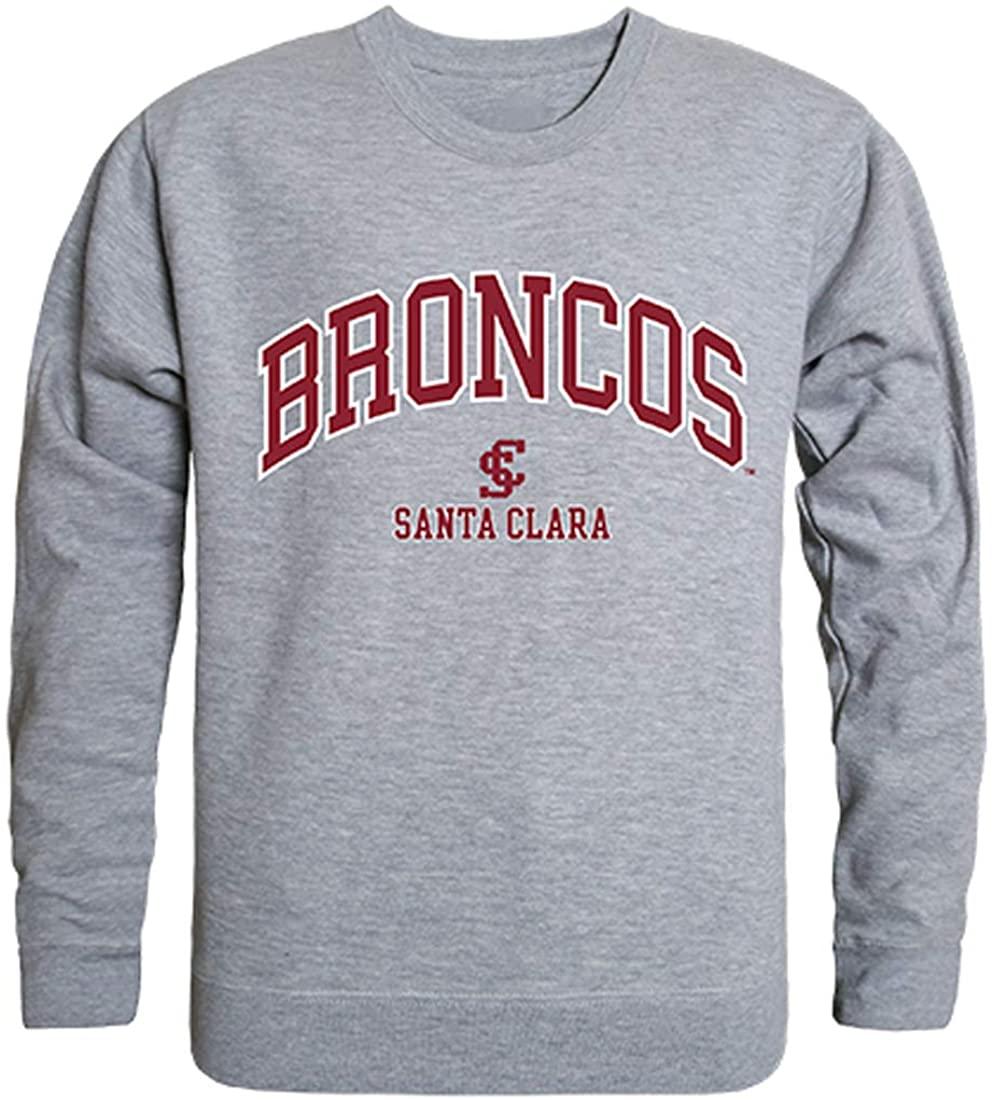 W Republic SCU Santa Clara Broncos NCAA Men's Campus Crewneck Fleece Sweatshirt