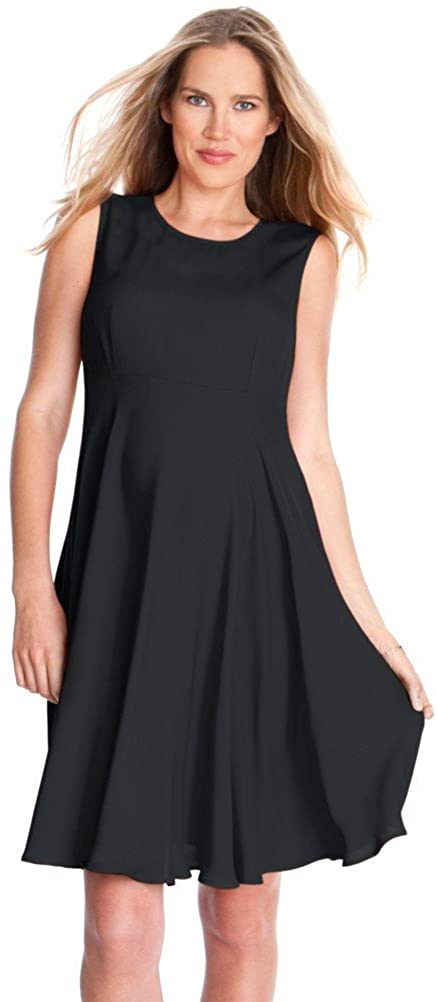 Seraphine Maternity Dress Evie Sleeveless Woven A Line Maternity Dress - Black - 12