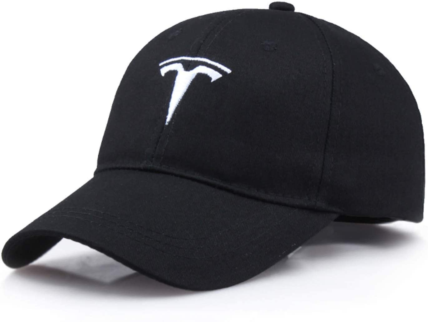 Tesla Logo Sports Baseball Adjustable Cap, Black, One Size