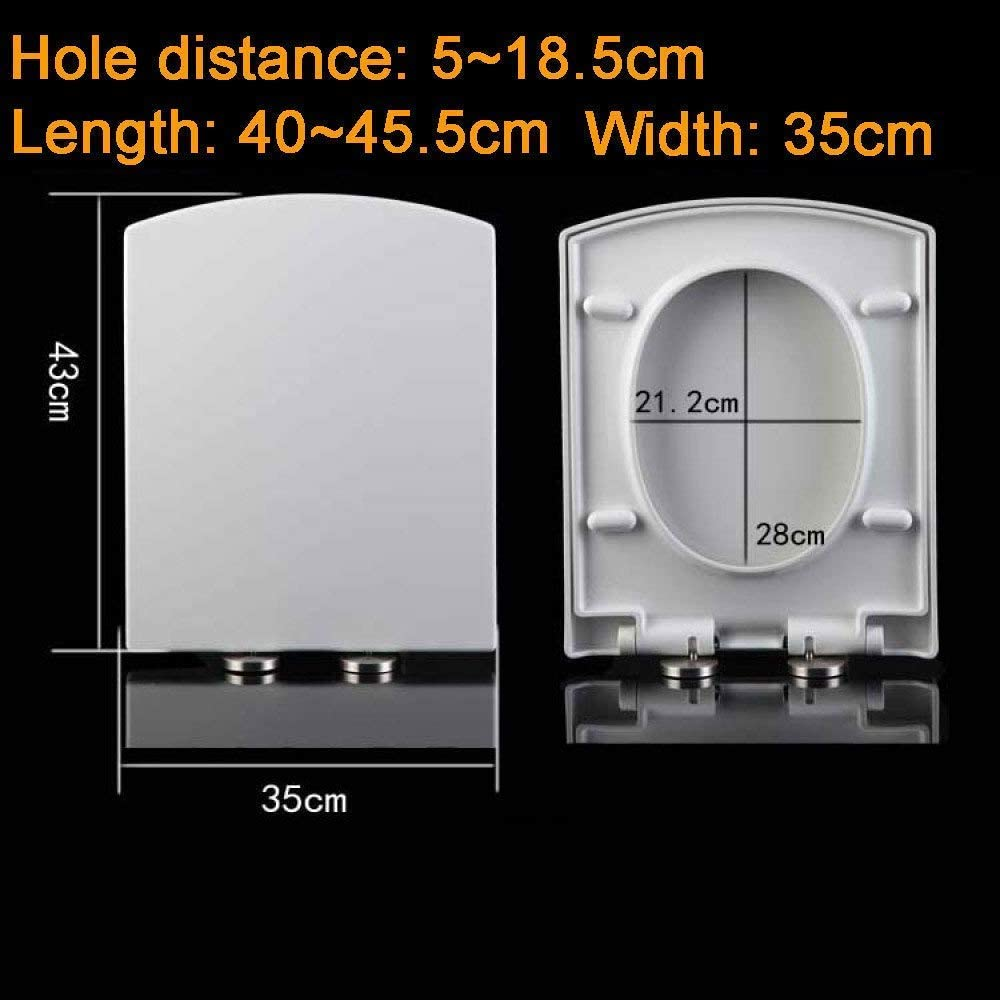 Seats Toilet Seat with Thickened Soft Close Release Hinges Top Mounted Ultra Resistant Pp Board Wc-Seat for Rectangular Trapezoid Toilet Seat,B