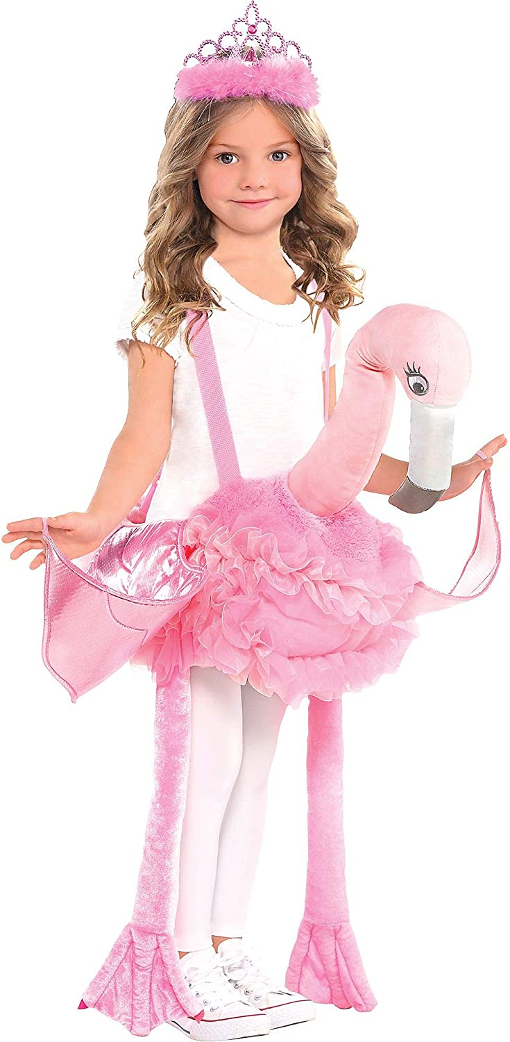 Suit Yourself Flamingo Ride-On Costume for Children, Standard Size, Includes a Flamingo with Attached Shoulder Straps