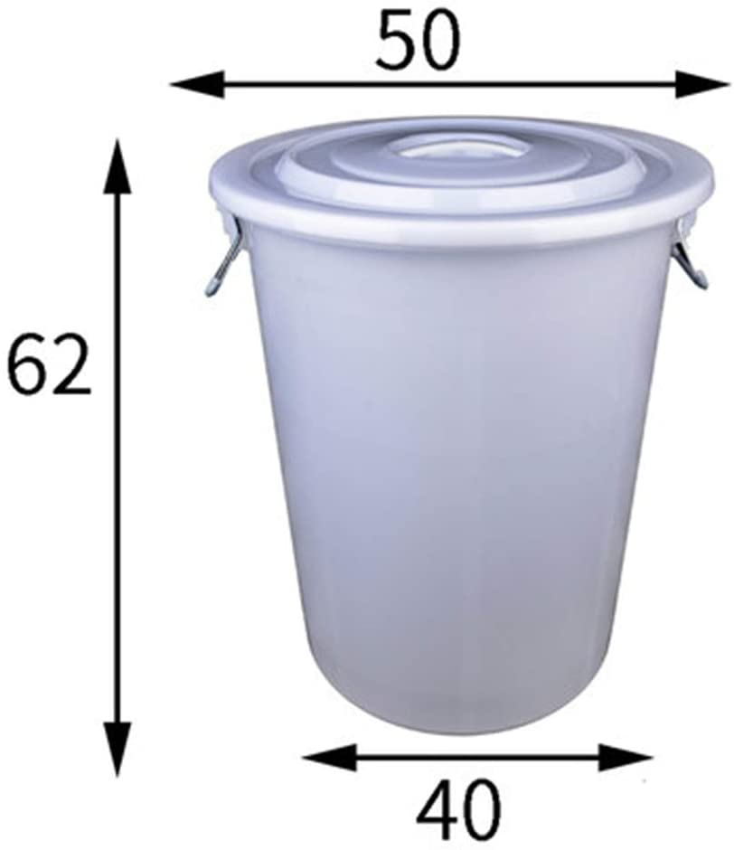 Yxian Round Waste Container Only, Gallon Garbage Can Liners,Heavy Duty Trash Bags - Extra Large Commercial Plastic Bucket,N