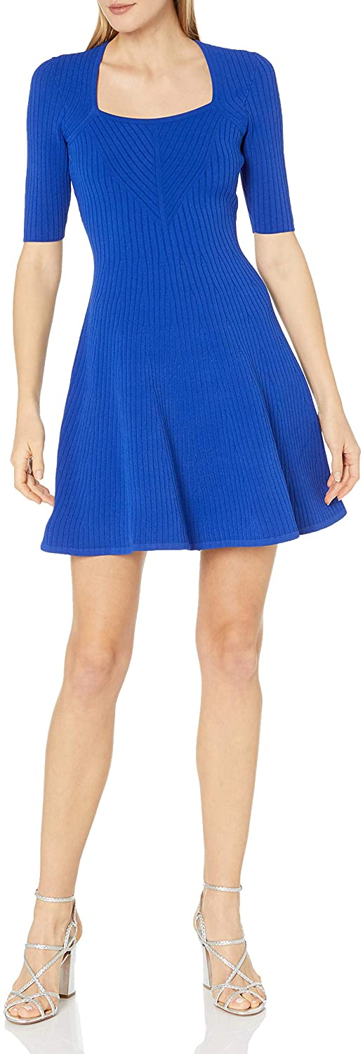 MILLY Women's Rib Flare Dress