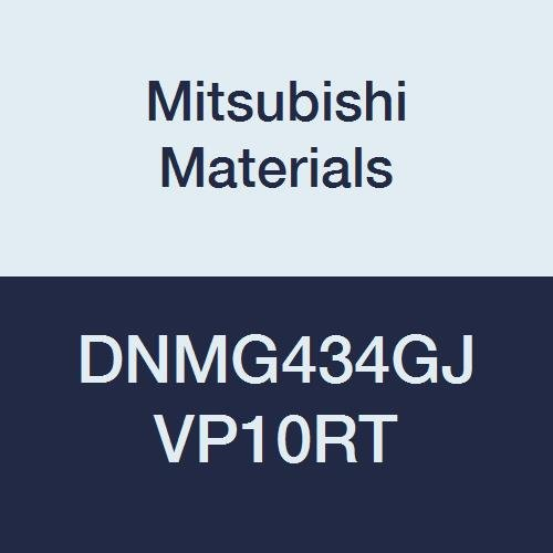 Mitsubishi Materials DNMG434GJ VP10RT Coated Carbide DN Type Negative Turning Insert with Hole, Rhombic 55°, 0.5