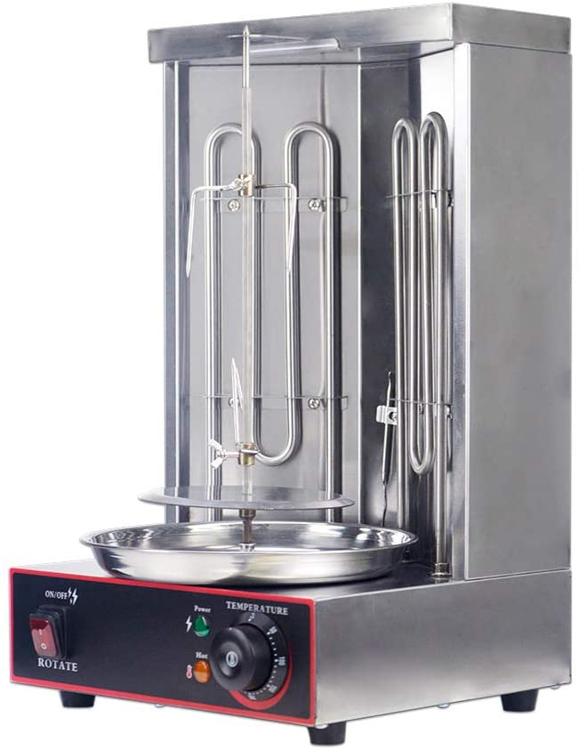 Zz Pro Electric Vertical Broiler Shawarma Doner Kebab Gyro Grill Machine With Temperature Adjustment Switch