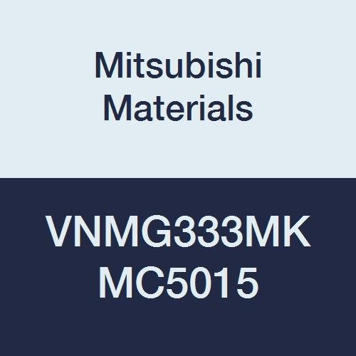 Mitsubishi Materials VNMG333MK MC5015 Carbide VN Type Negative Turning Insert with Hole, Unstable Cutting, Coated, Rhombic 35°, 0.375