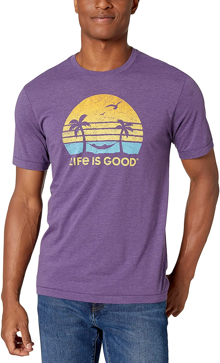 Life is Good Mens Cool Cotton Blend Graphic T-Shirt