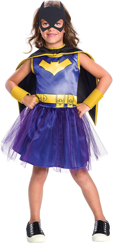 Rubie's Costume Girls DC Comics Batgirl Tutu Dress Costume, Medium, Multicolor (630885)