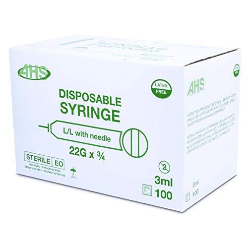 AHS 3mL Luer Lock Syringe, 22G x 3/4