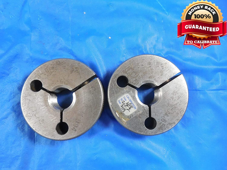 M16 X 1.5 6g Metric Thread Ring GAGES 16.0 GO NO GO P.D.'S = 14.994 & 14.854 mm