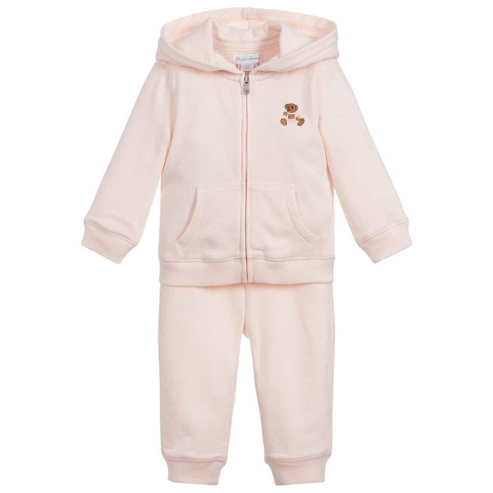 Ralph Lauren Polo Baby Girls Bear Hoodie & Jog Pants Set (12 Months)