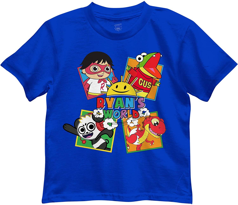 Mad Engine Ryan's World Team Grids Little Boys Juvenile Kids T-Shirt Licensed