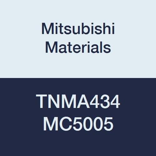 Mitsubishi Materials TNMA434 MC5005 Coated Carbide TN Type Negative Turning Insert with Hole, Triangular, 0.5