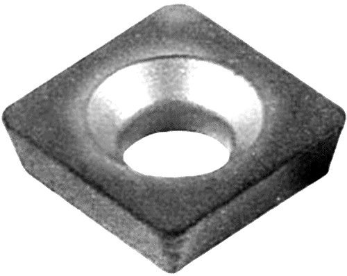 Cobra Carbide 40854 Solid Carbide Turning Insert, C550 Grade, Uncoated (Bright) Finish, SPGH Style, SPGH 322, 1/8