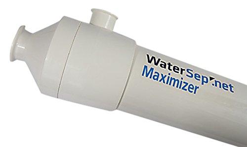 WaterSep BA 003 10MAX24 SH Maximizer24 Reuse Hollow Fiber Cartridge, 3K Membrane Cutoff, 1 mm ID, 117 mm Diameter, 724 Length, Polyethersulfon/Polysulfone/Urethane