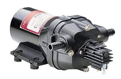 Continuous-Duty Double-Diaphragm Pump; PP/Santoprene, 3.5 GPM, 115 VAC