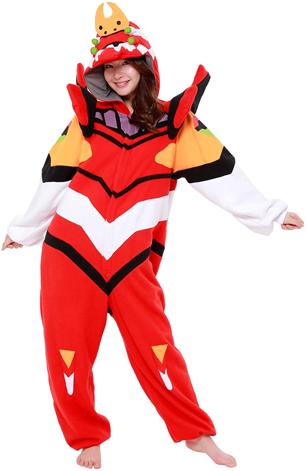 SAZAC Kigurumi - Evangelion Unit-02 - Eva-02 - Onesie Halloween Costume - Adult Red