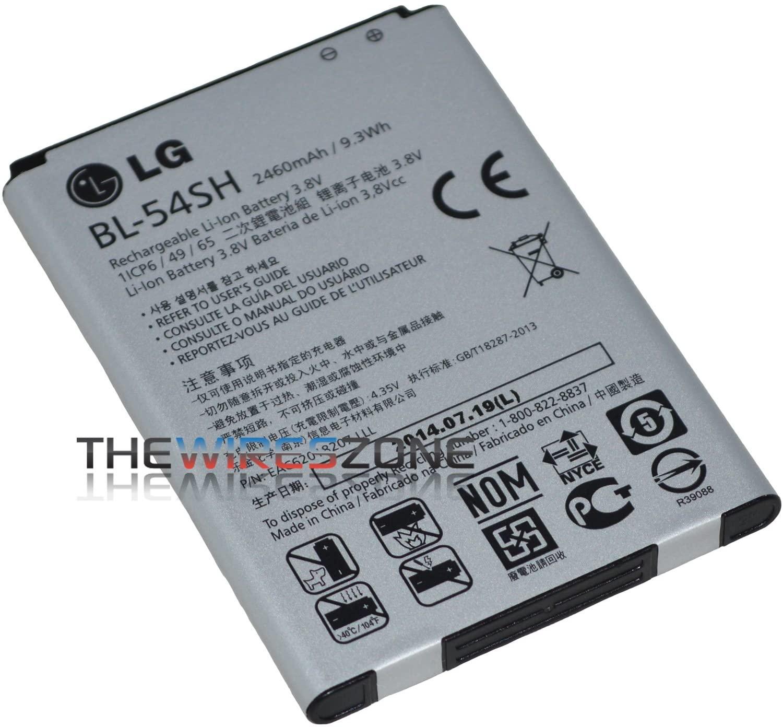 Genuine OEM Original LG BL-54SH 2460mAh Battery for Optimus P698 F7 US870 - Non-Retail Packaging - Grey