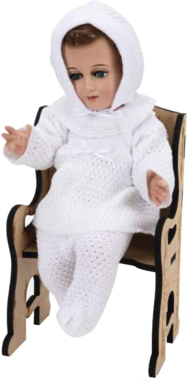 Alexa's Couture Trajecito Bordado a Mano/Tejido para Niño Dios con accesorios Incluidos/Baby Jesus Outfit 2