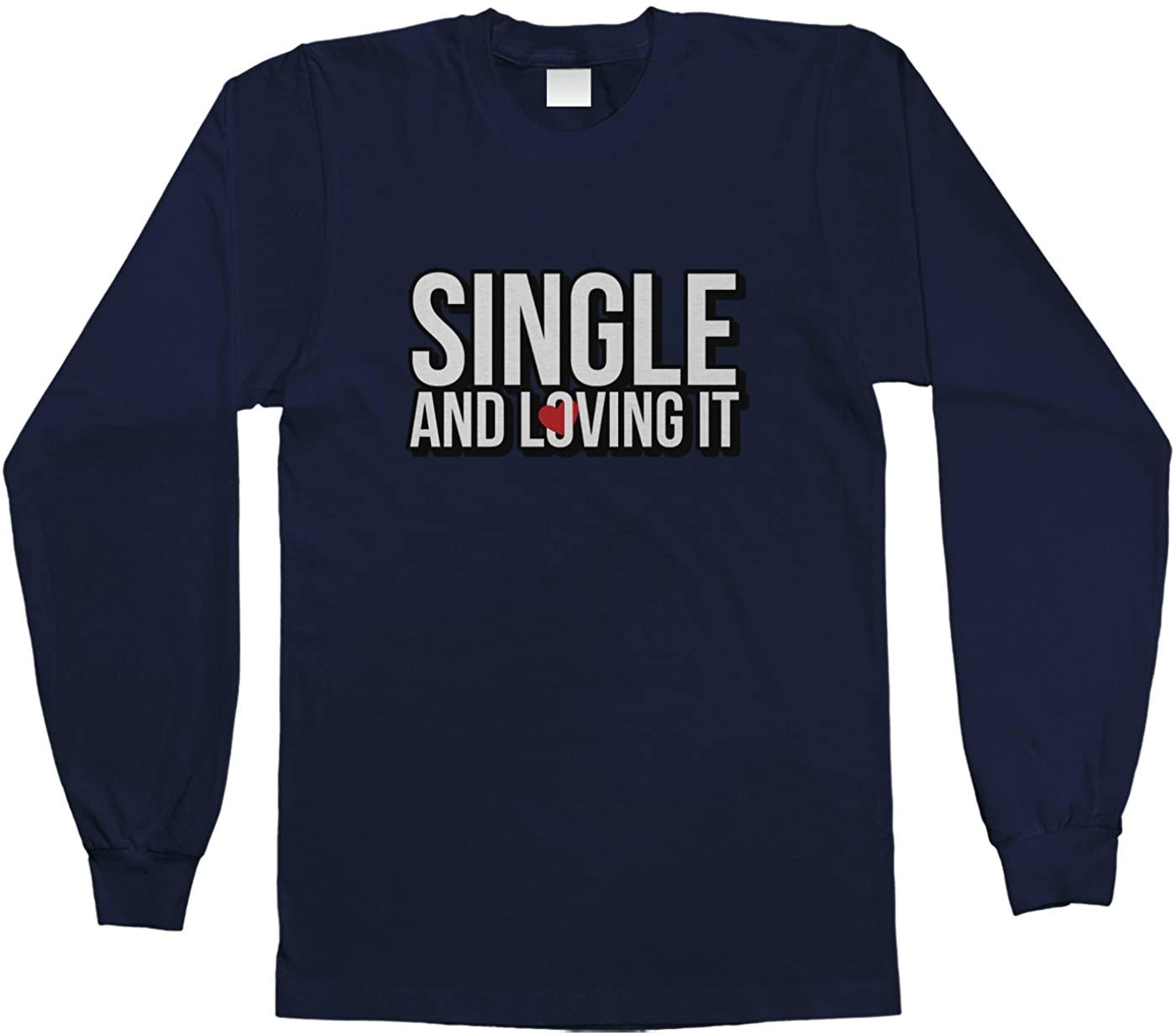Threadrock Big Boys Single and Loving It Youth Long Sleeve T-Shirt