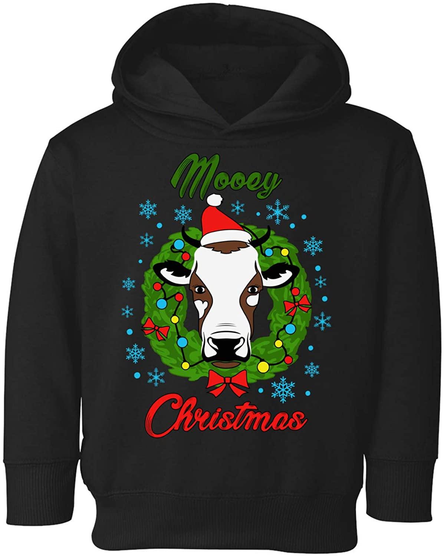 Awkward Styles Cow Christmas Hoodie for Boys Girls Toddler Xmas Mooey Sweatshirt