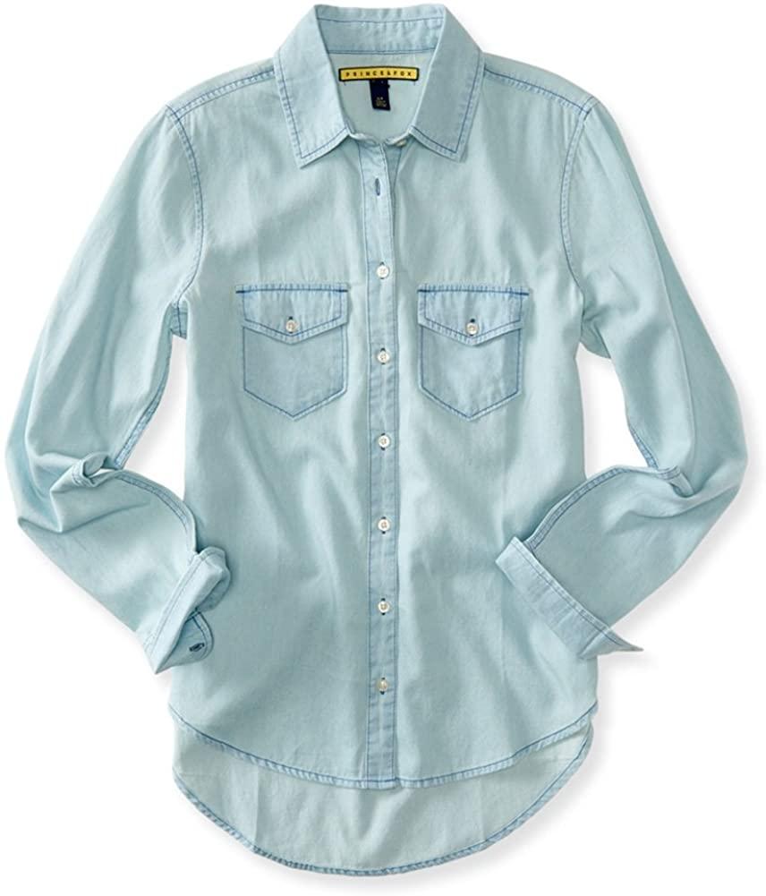 AEROPOSTALE Womens Washed Denim Button Up Shirt