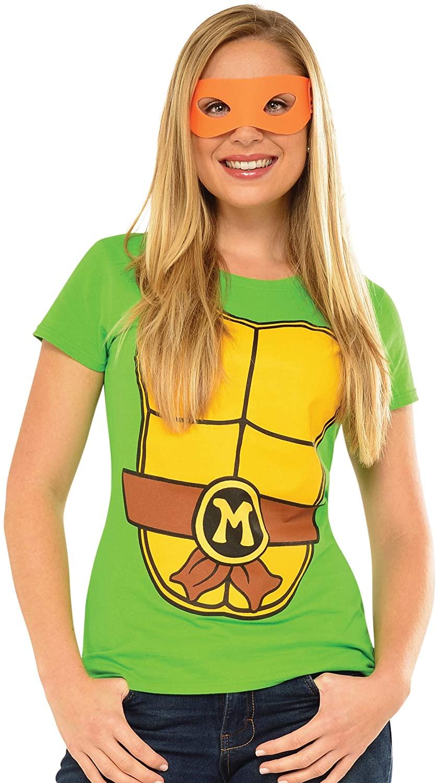 Rubie's Costume Teenage Mutant Ninja Turtles Top With Mask and Michelangelo