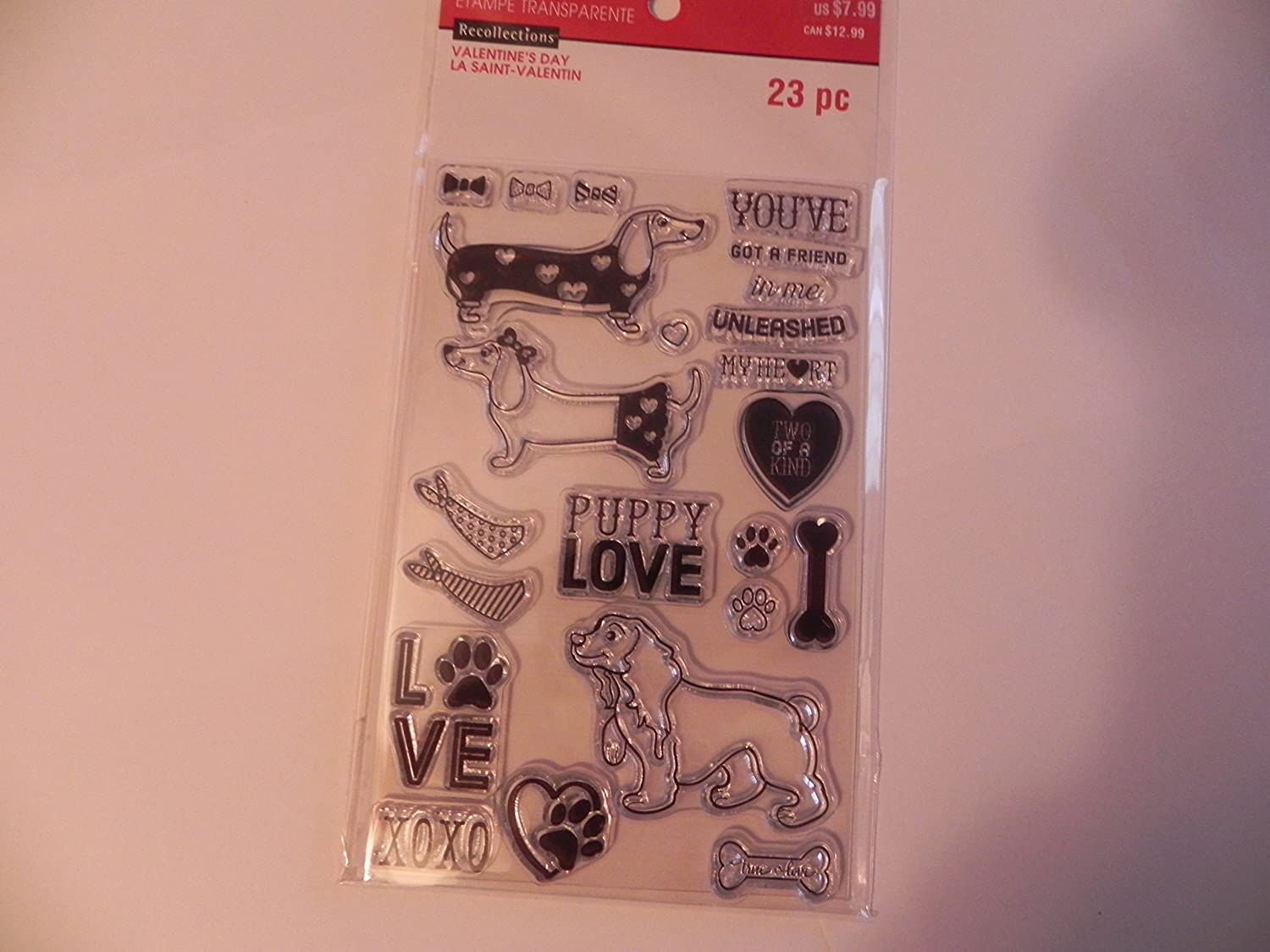 Recollections Valentine's Day Clear Stamps - Puppy Love