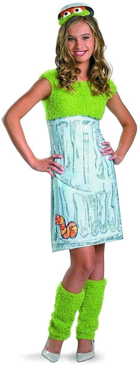 Disguise Halloween Party Sesame Street Oscar The Grouch Tween Costume - 14-16