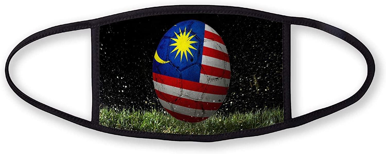 3-Layer reusable/washable Facemask - Flag of Malaysia (Malaysian) - Soccer Design